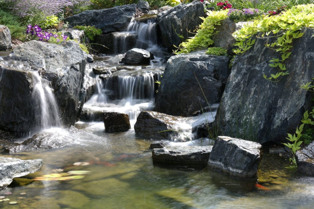 Complete Water Garden Redesign with 4 Breathtaking Waterfalls